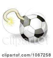 Clipart 3d Soccer Ball Bomb Royalty Free Vector Illustration by AtStockIllustration