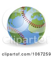 Clipart 3d Baseball Globe Royalty Free Vector Illustration