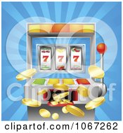 Clipart 3d Winning Slot Machine With Jackpot Coins Flying Out Royalty Free Vector Illustration by AtStockIllustration