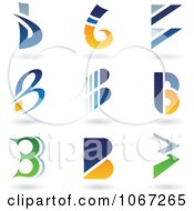Clipart Letter B Logos Royalty Free Vector Illustration by cidepix