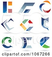 Clipart Letter C Logos Royalty Free Vector Illustration