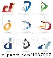 Clipart Letter D Logos Royalty Free Vector Illustration