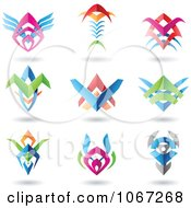 Clipart 3d Logos Made With Metal Blades Royalty Free Vector Illustration