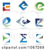 Clipart Letter E Icon Logos Royalty Free Vector Illustration