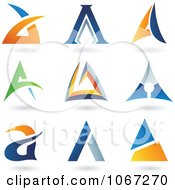 Clipart Letter A Logos Royalty Free Vector Illustration by cidepix