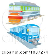 Clipart Two Trains Royalty Free Illustration