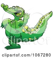 Clipart Crocodile Doing Karate Royalty Free Vector Illustration