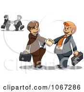 Clipart Business Men Shaking Hands 2 Royalty Free Vector Illustration