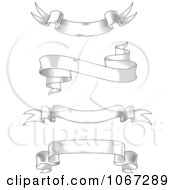 Clipart Grayscale Sketched Banners Royalty Free Vector Illustration
