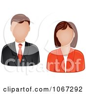 Clipart Business Man And Woman Avatars Royalty Free Vector Illustration by Vector Tradition SM
