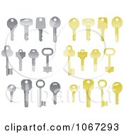 Clipart Silver And Gold Keys Royalty Free Vector Illustration by Vector Tradition SM