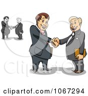 Poster, Art Print Of Business Men Shaking Hands 1