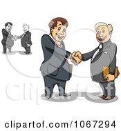 Clipart Business Men Shaking Hands 1 Royalty Free Vector Illustration