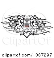 Clipart Polar Bear And Flames Divider Royalty Free Vector Illustration by Vector Tradition SM