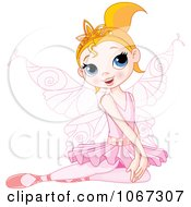 Clipart Sitting Ballerina Fairy Royalty Free Vector Illustration