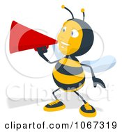 Clipart Bee Using A Megaphone 2 Royalty Free Illustration