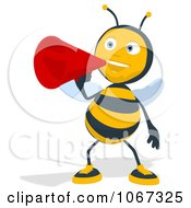 Clipart Bee Using A Megaphone 1 Royalty Free Illustration