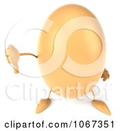 Clipart 3d Egg Character Holding A Thumb Down Royalty Free CGI Illustration by Julos
