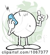 Clipart Informative Moodie Character Using A Cell Phone Royalty Free Vector Illustration