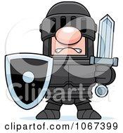 Clipart Knight In Black Armor Royalty Free Vector Illustration