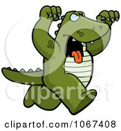 Clipart Ferocious Alligator Attacking Royalty Free Vector Illustration by Cory Thoman