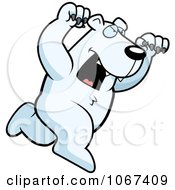 Clipart Ferocious Polar Bear Attacking Royalty Free Vector Illustration by Cory Thoman