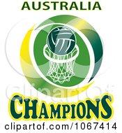 Clipart Australia Netball Champions Sign Royalty Free Vector Illustration