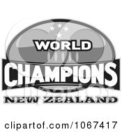 Clipart New Zealand Ruby World Champions Sign Royalty Free Vector Illustration