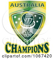 Clipart Australia Netball Champions Shield Royalty Free Vector Illustration