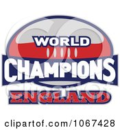 Clipart England Ruby World Champions Sign Royalty Free Vector Illustration