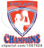 Clipart England Netball Champions Shield 2 Royalty Free Vector Illustration by patrimonio