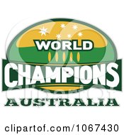 Clipart Australia Ruby World Champions Sign Royalty Free Vector Illustration