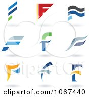 Clipart Letter F Logo Icons Royalty Free Vector Illustration