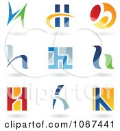 Clipart Letter H Logo Icons Royalty Free Vector Illustration by cidepix