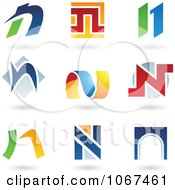 Clipart Letter N Logo Icons Royalty Free Vector Illustration by cidepix #COLLC1067461-0145