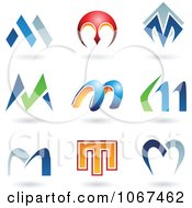 Clipart Letter M Logo Icons Royalty Free Vector Illustration