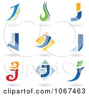 Clipart Letter J Logo Icons Royalty Free Vector Illustration