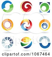 Clipart Letter O Logo Icons Royalty Free Vector Illustration