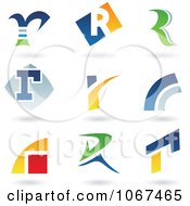 Clipart Letter R Logo Icons Royalty Free Vector Illustration by cidepix #COLLC1067465-0145