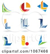 Clipart Letter L Logo Icons Royalty Free Vector Illustration