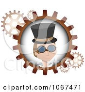 Clipart Steampunk Man And Gears Royalty Free Vector Illustration by mheld