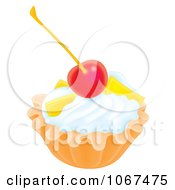 Clipart Cherry Topped Dessert Royalty Free Illustration by Alex Bannykh