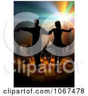 Clipart Couple On The Dance Floor Royalty Free Vector Illustration