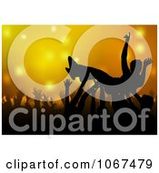 Clipart Man In A Mosh Pit Royalty Free Vector Illustration by dero