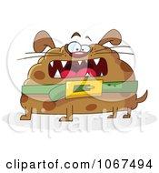 Clipart Round Fat Dog Royalty Free Vector Illustration by yayayoyo