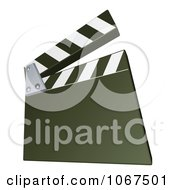 Clipart Green Clapperboard Royalty Free Vector Illustration