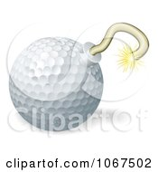 Clipart 3d Golf Ball Bomb Royalty Free Vector Illustration by AtStockIllustration