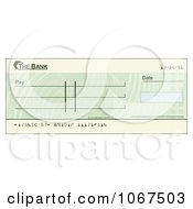 Clipart Blank Green Blank Cheque Royalty Free Vector Illustration by AtStockIllustration