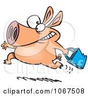 Clipart Shopping Pig Royalty Free Vector Illustration by toonaday