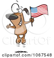 Clipart American Dog Jumping Royalty Free Vector Illustration by Ron Leishman